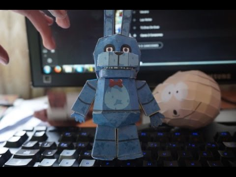 Papercraft five nights at freddy's  (Toy Bonnie) Papercraft