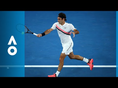 Hyeon Chung v Roger Federer second set highlights (SF) | Australian Open 2018