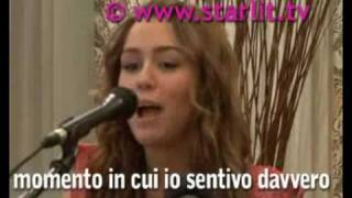 INTERVIEW with Miley Cyrus in Italia per Hannah Montana!