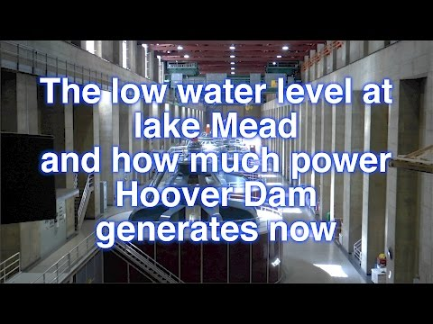 Lake Mead low water level and Hoover dam power production