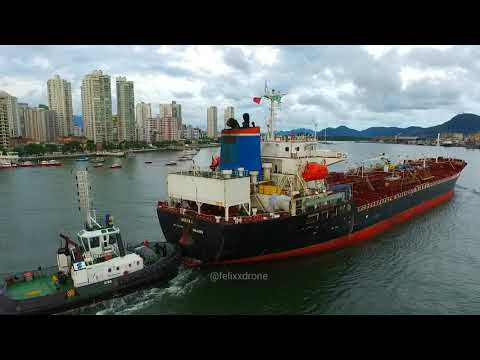 The Monax Ship entering the Port of Santos city - Brazil