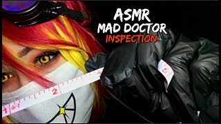 ASMR Mad Doctor Inspection [Measuring] [Pen Light] [Typing]