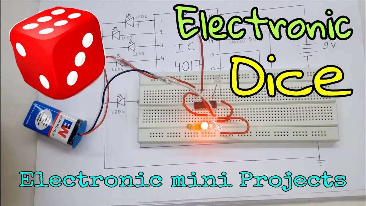 How To Make Electronic Dice, [ 100% Working ] (In Hindi) - YouTube