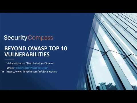 MISTI Webcast: Beyond OWASP Top 10 Vulnerabilities