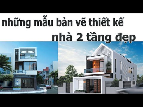 bản vẽ thiết kế nhà 2 tầng đẹp