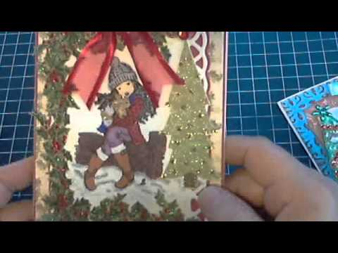 SCRAPBOOKING PROJECT SHARE - CHRISTMAS CARDS USING SARAH KAY STAMPS