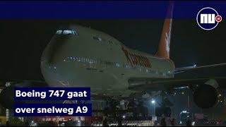Corendon start transport Boeing 747 via snelweg en weilanden