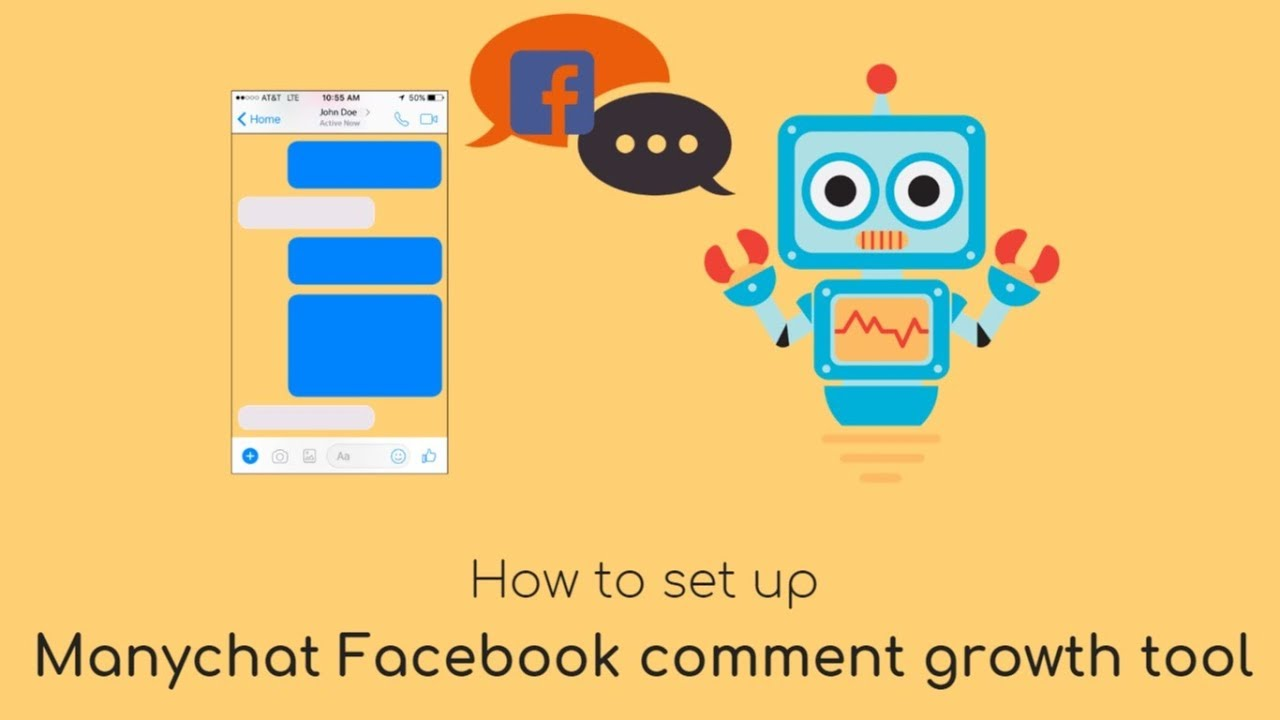 Reply with automated chat message to Facebook comments (ManyChat FB Comment  growth tool)