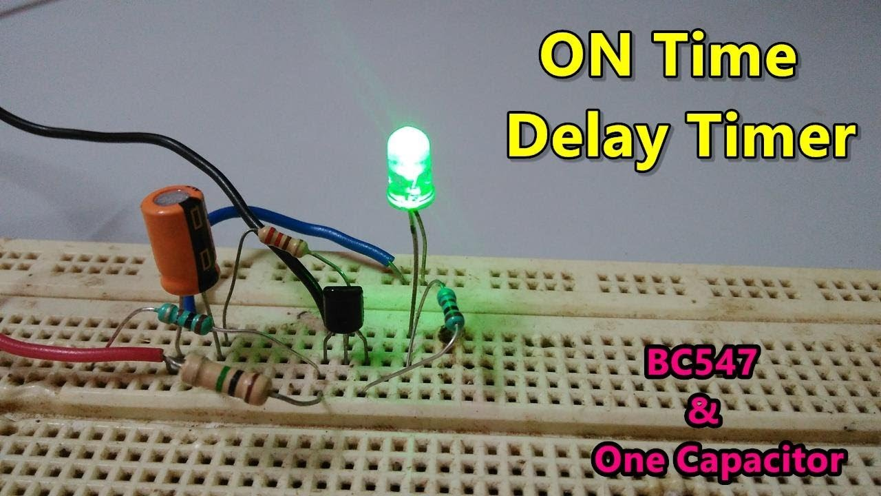 Relay Circuits By Photo Transistor Electronic Projects On Time Delay Timer Using One Npn And Capacitor Youtube