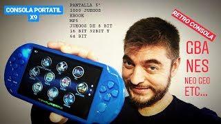 🎮 CONSOLA PORTATIL barata X9, 🙋PORTATIL RETRO GAME Handheld Retro Game Console