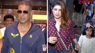 Akshay Kumar And Wife Twinkle Khanna Spotted At The Airport