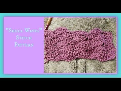 Shell Waves Stitch Pattern Youtube