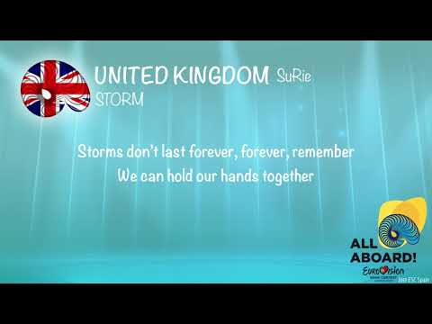 SuRie - Storm (United Kingdom) [KARAOKE VERSION]