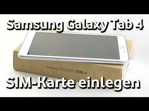 samsung galaxy tab 4 vodafone sim karte einlegen youtube. Black Bedroom Furniture Sets. Home Design Ideas