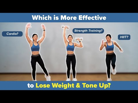 Cardio? Weight Lifting? HIIT? Which is More Effective to Lose Weight & Tone Up? | Joanna Soh