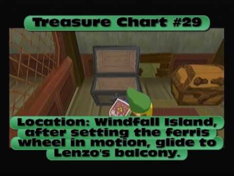 Legend of Zelda: The Wind Waker - All Treasure Charts
