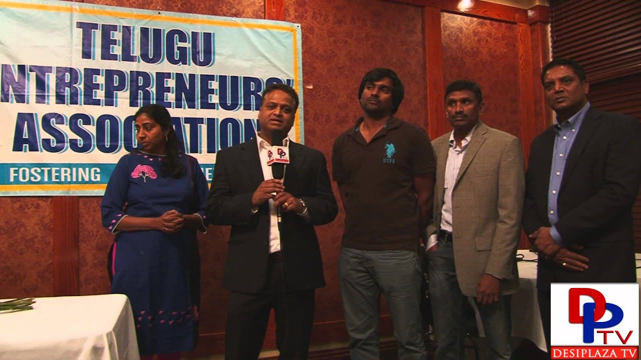 Mr.Raja Sreenivas from Telugu Entrepreneurs Association(TEA) speaking to Desiplaza TV