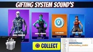 *NEW* Fortnite: LEAKED GIFTING SYSTEM! ALL INFORMATION | SOUND FX & MORE!