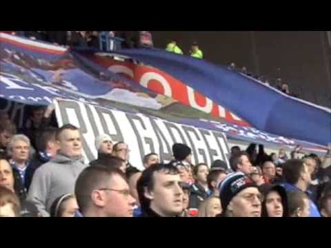 Rangers Fans Pay Tribute To 'Gadger'