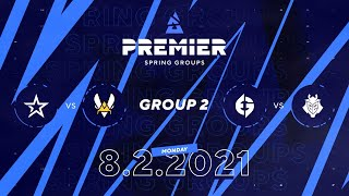 Complexity vs Vitality, EG vs G2 | BLAST Premier Spring Group 2 Day 1