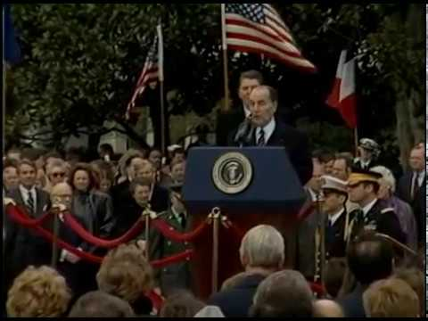 President Reagan's Remarks at Arrival Ceremony for President Mitterrand on March 22, 1984