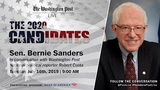 Democratic Presidential Candidate Sen. Bernie Sanders talks 2020 election, policies at Pos ...