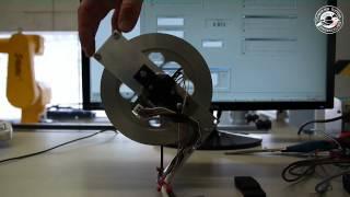 Swing-up and Stabilization of an Inertia Wheel Pendulum