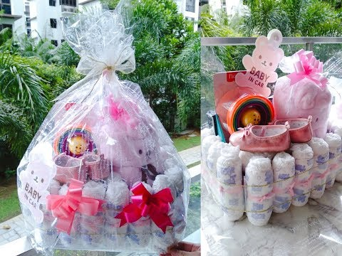 DIY Diaper Crib Baby Shower Gift Hamper