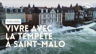 Vivre avec la tempete à Saint-Malo - Thalassa (reportage complet)