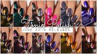 Swatches || Tonic Polish June 2018 New Polish Releases | Rikki's Nails