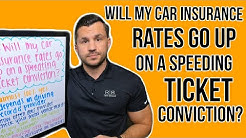 Will My Car Insurance Rates Go Up On a Convicted Traffic Ticket?