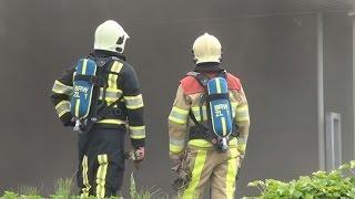 Grote brand autobedrijf Moors autoschade Valkenburg