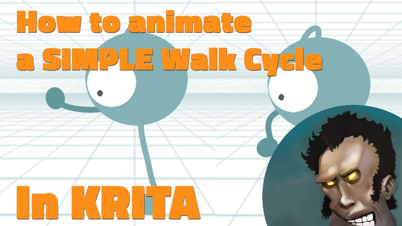 How To Animate A Simple Walk Cycle In Krita