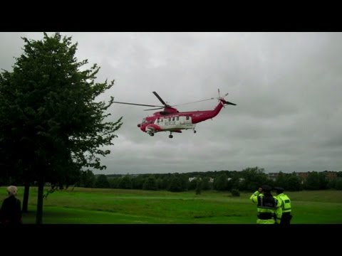 Irish Coast Guard Helicopter Taking Off
