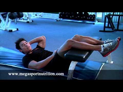 การเล่นกล้ามท้องด้านบน crunch