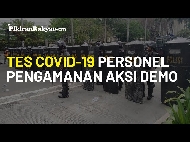 Polda Metro Jaya Imbau Personel Pengamanan Aksi Unjuk Rasa Tes Covid-19