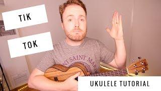 Here's an easy ukulele tutorial for tik tok by ke$ha! kala ka-pwt pacific walnut tenor: http://amzn.to/2f9vv2o visit https://www.grabyouruke.com more uku...
