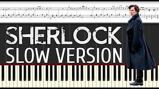 Ноты для Фортепиано: Sherlock - Main Theme. Piano tutorial.