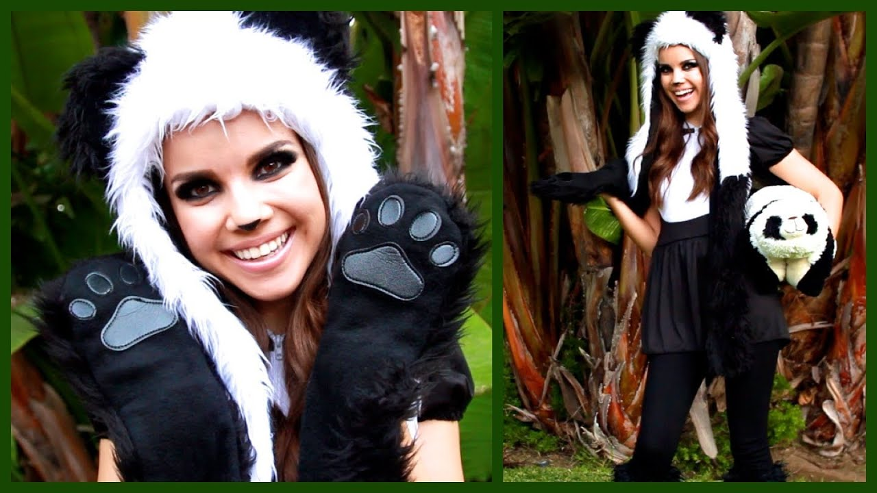 Cute U0026 Cuddly Panda Look U2665 Makeup Hair And Costume! - YouTube