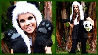 Cute & Cuddly Panda Look ♥ Makeup, Hair, and Costume!