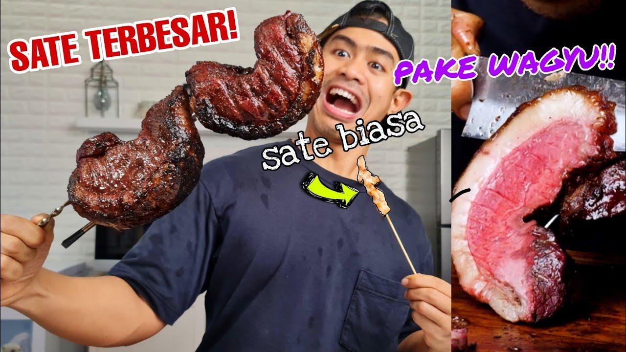 MUKBANG SATE TERBESAR DI INDONESIA PAKE STEAK WAGYU JEPANG!