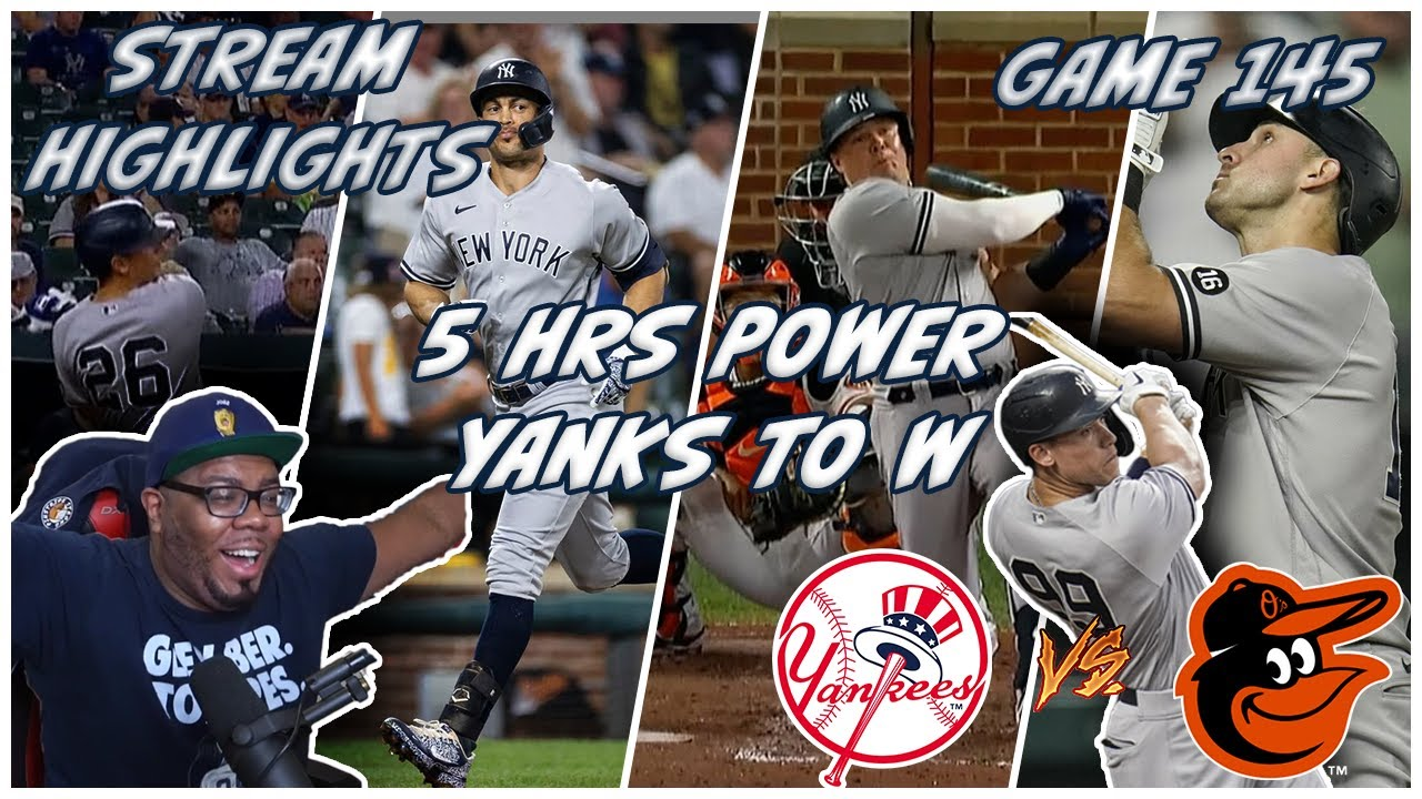 💥BOMBERS HIT 5 HRS TO POWER PAST O'S💥145-162 YANKEES VS ORIOLES JOEZMCFLY REACTION