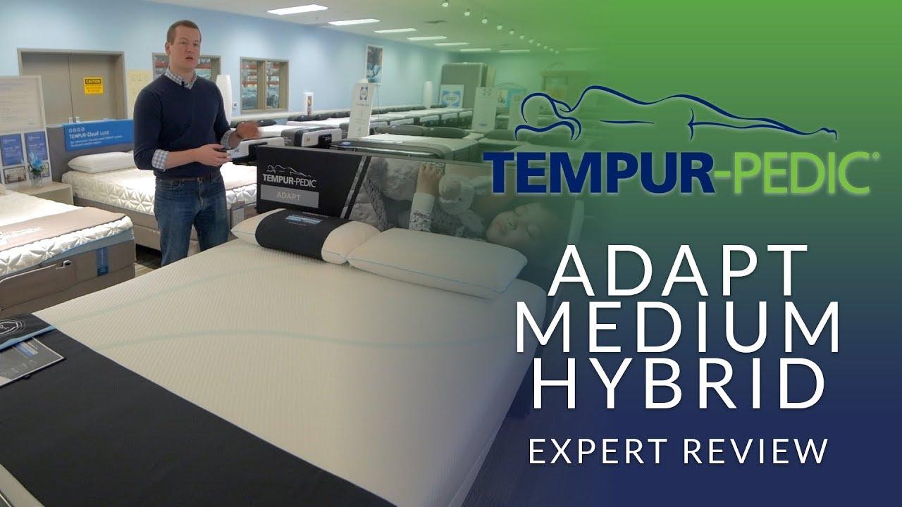new style 12513 7c83d Tempurpedic Adapt Medium Hybrid Mattress Expert Review