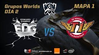 EDWARD GAMING VS SK TELECOM T1  - GRUPOS - WORLDS 2017 - DÍA 2