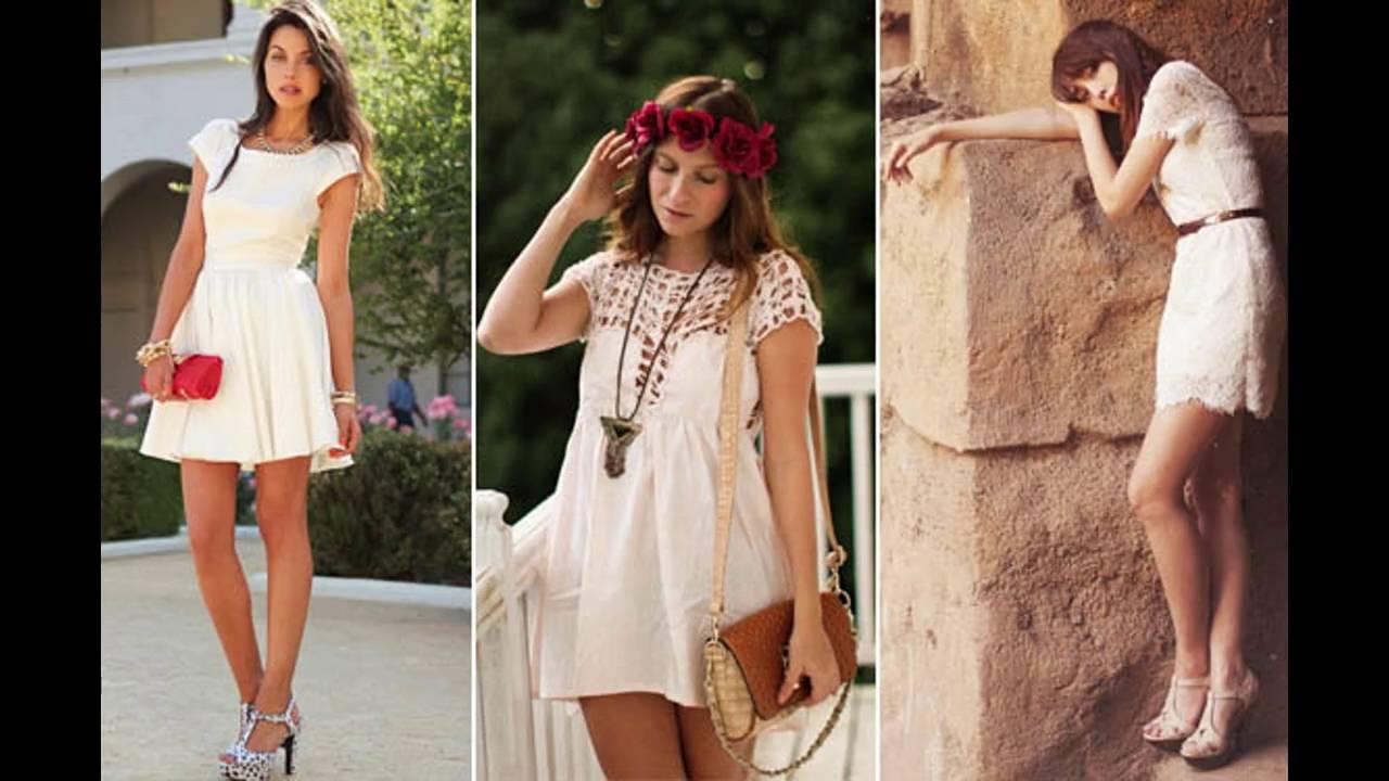 3642d2164 Outfits con vestidos blanco - YouTube