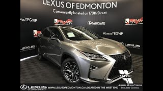 Silver 2019 Lexus RX 350 F Sport Series 3 Review Edmonton Alberta - Lexus of Edmonton New