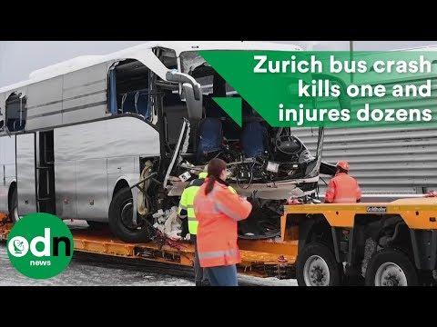 Zurich bus crash kills one and injures dozens