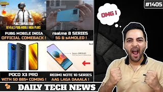 PUBG Mobile India Comeback Official,POCO X3 Pro SD 855+,Oneplus Nord 2 Dimensity 1200,realme 8Amoled