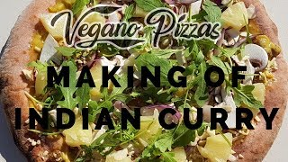 Vegano pizzas Indian curry