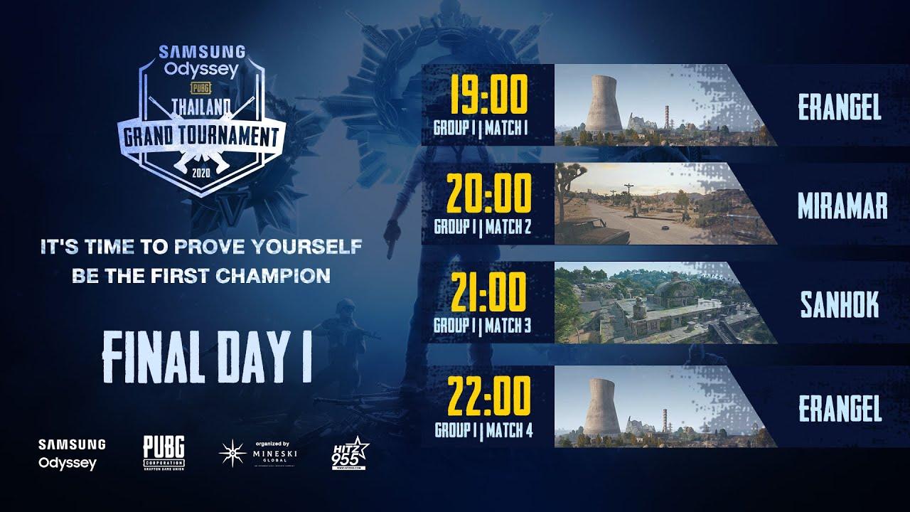 แข่งพับจี SAMSUNG Odyssey PUBG Thailand Grand Tournament 2020 รอบ Final Day 1